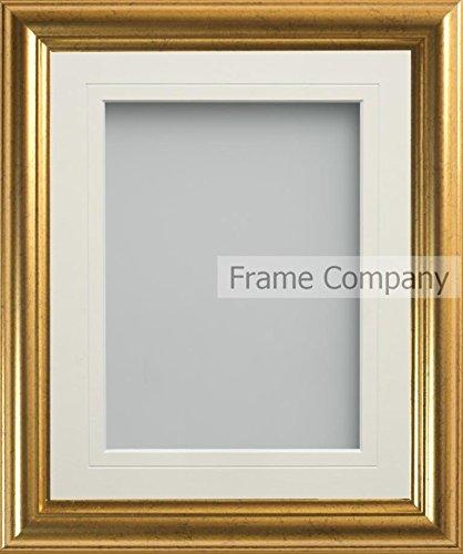 Frame Company Eldridge Range goldener Bilderrahmen, 35,6x 27,9cm, mit elfenbeinfarbenem Passepartout für Bildgröße A4