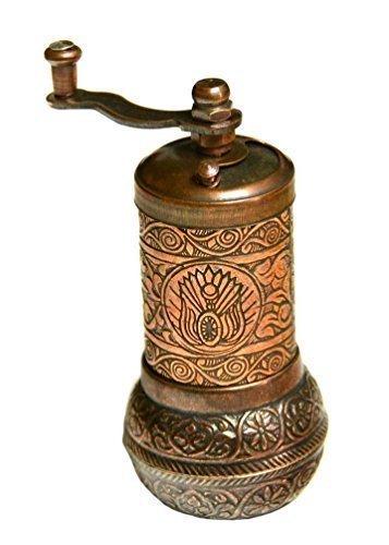 Türkische handgefertigt Kupfer Kaffee Salz Pfeffer Spice Grinder Salzmühle Set 10,7cm M kupfer Spice Grinder Set