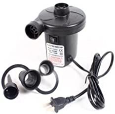 AndAlso Ac Electrical Air Pump, Quickly Inflates & Deflates All Large Volume Inflatables, voltage AC 230