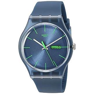 Swatch Blue Rebel SUON700 – Reloj de Mujer de Cuarzo, Correa de Caucho Color Azul Claro