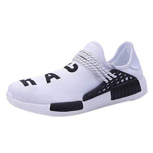 WWricotta Zapatillas de Correr Hombre Mujer Par Estampado Patchwork Casual Cómodas Calzado para Deporte Zapatos para Andar con Cordones Bambas de Gimnasia Running Deportivas Mocasines