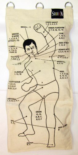 Wing Chun Canvas Wall Striking Bag 3 Section TORSO - STRIKING TARGETS by Nws