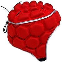 NON Fútbol Fútbol Rugby Portero Ajustable Protector De Cabeza Casco Protector Sombrero Equipo - Rojo