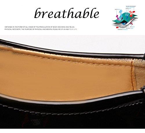 SPEEDEVE Homme Classique Commercial Leather Chaussure Habillées Élégantes Noir Marron Brun