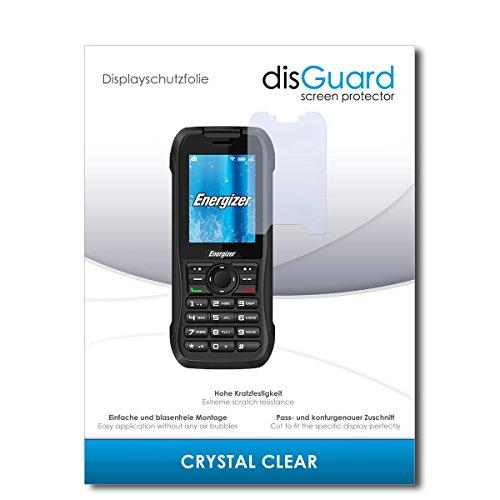 disGuard® Bildschirmschutzfolie [Crystal Clear] kompatibel mit Energizer Hardcase H240S [4 Stück] Kristallklar, Transparent, Unsichtbar, Extrem Kratzfest, Anti-Fingerabdruck - Schutzfolie