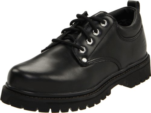 Skechers Men's Alley Cat Utility Oxford,Black Smooth,9 M US Oxford Utility