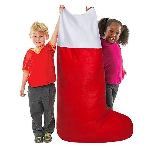 Calza natalizia in feltro oversize jumbo rossa e bianca – 60″ alt. x 20″ larg.