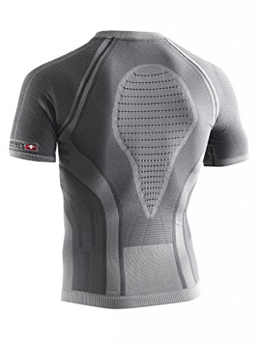 X-Bionic Erwachsene Funktionsbekleidung Running Man Fennec OW Shirt SH SL Grau