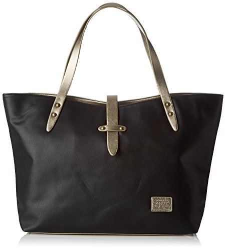 Il Tempo Delle Ciliegie Damen Indiana_ltc3r5d Einkaufstasche, 14 X 28 X 45 Cm Nero (nero)