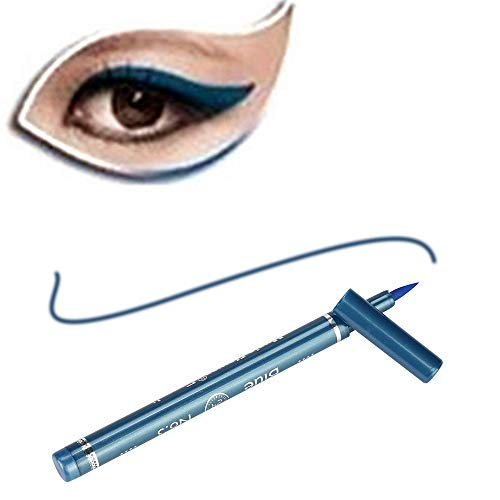 Cwemimifa Waterproof Eyeliner/Wasserfester Augenkonturenstift,Beauty Black Eyeliner Liquid Eyeliner Pen Pencil Make-up Kosmetik Neu,Blau