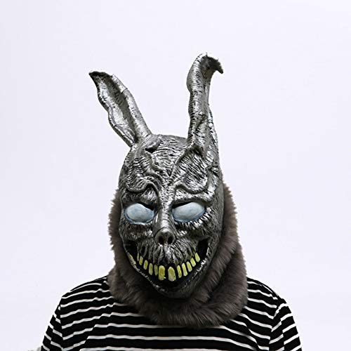 Tier Cartoon Kaninchen Maske Donnie Darko FRANK der Hase Kostüm Cosplay Halloween Party Masken Supplies Ostern Party Kaninchen Masken, wie das Bild