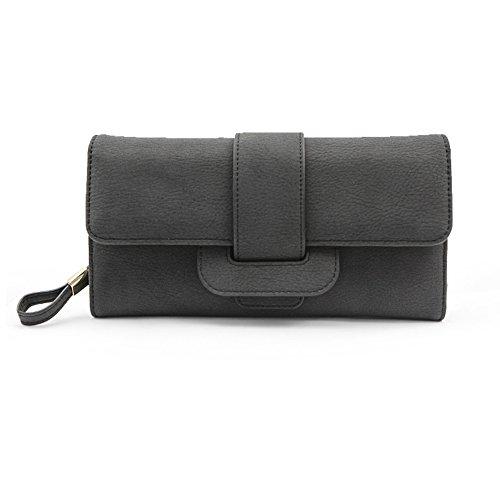 Lady borsa lungo/Portafogli di semplice grande capacità/ tri-fold wallet zip-C