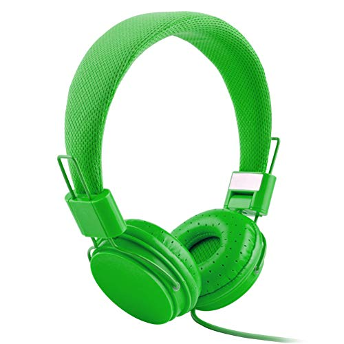 XdremYU Bluetooth Headset,Mikrofon EIN eufor Ohrhorer Funk Dual Rauschunterdrückung Candy Color Faltbarer HiFi-Stereo-Kopfhörer für kabelgebundene Steuerung mit Mikrofon Green