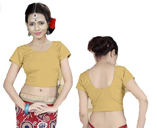 Fertige, Free Size Saree Blouse, Blusen, Bollywood, Sari, Goa, Indien, Hochzeit, Kleid, Oberteil, Party,140 (Yell hase)