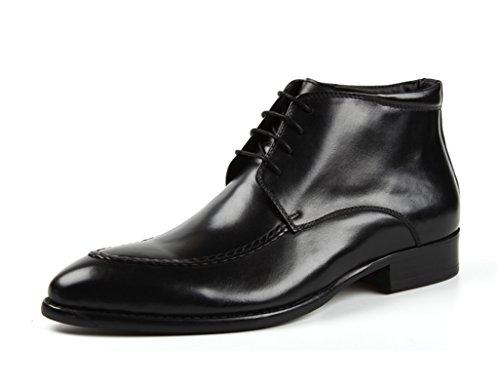 Scarpe Uomo in Pelle Scarpe da uomo in pelle Abbigliamento formale Scarpe alte da lavoro Stivali stile inglese Martin ( Colore : Marrone , dimensioni : EU40/UK6.5 ) Nero