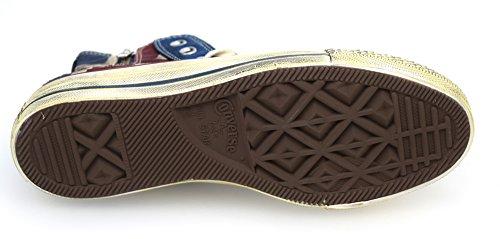 Chaussures De Sneaker Converse All Star Femme Vintage Flag Anglais Art. 1c503 Drapeau Anglais