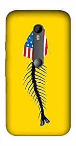 Timpax Slip-resistant, stain-resistant and tear-resistant Hard Back Case Cover Printed Design : A fish.Exactly Design For : Motorola Moto-G-3 ( 3rd Gen )