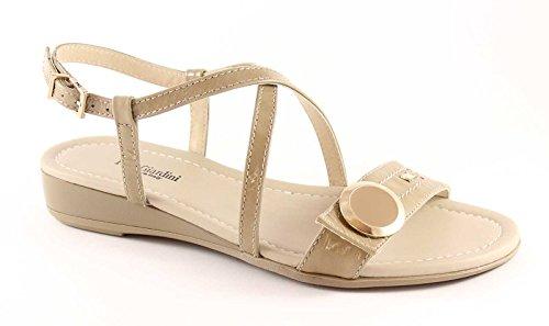 NERO GIARDINI 0882 sabbia sandali donna zeppetta Beige