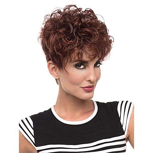 Littlefairy Perücke Curly Hair Lady Fashion Kopf Voller Flauschige Kleine lockiges Haar. - Curly Damen Volle Perücke