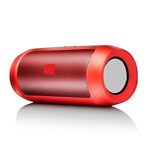 MECKWELL Xiaomi Redmi Note 4 64GB Compatible Wireless SplashProof Bluetooth Speaker with Built-in Mic, Pendrive Supported, FM, AUX (Red)