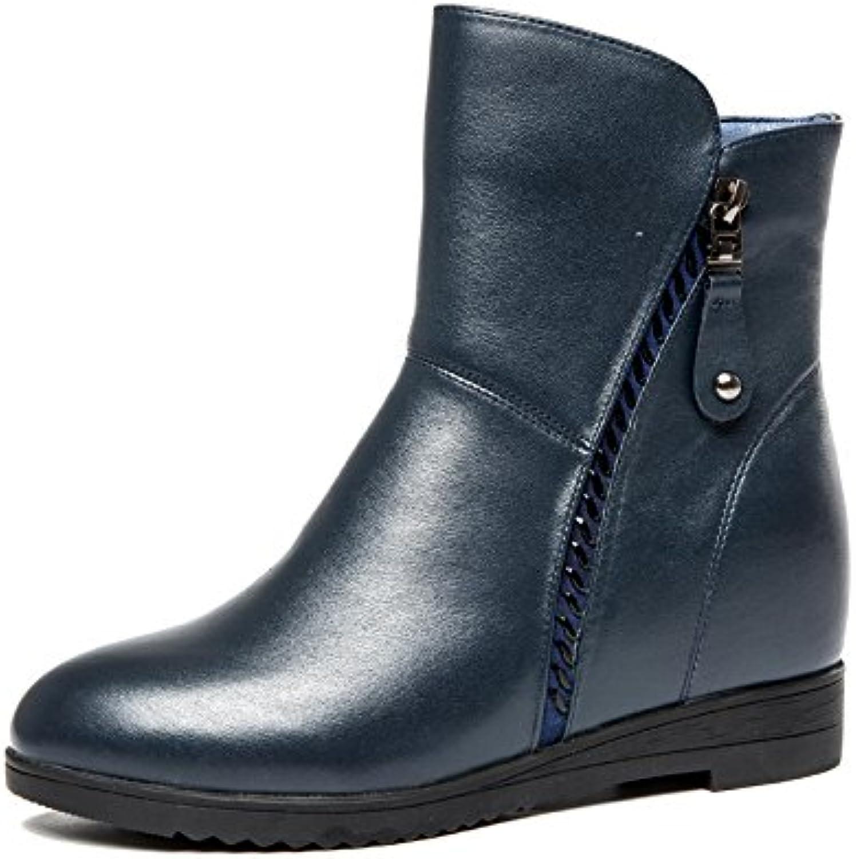 Aemember zapatos de mujer y botas de cremallera en otoño y en invierno, el ocio, el aumento de la proporción de...