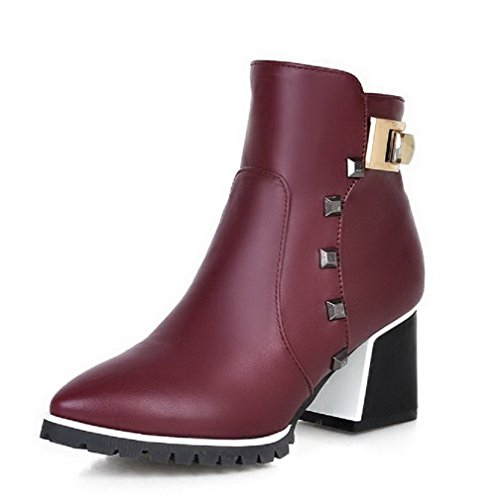 agoolar-womens-zipper-pointed-closed-toe-kitten-heels-pu-low-top-boots-claret-33