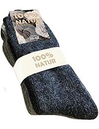 100% Natur Grobstricksocke im Doppelpack
