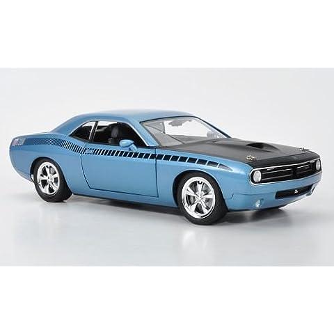 Plymouth cuDa AAR concept, metallizzato-hellblau/nero opaco, modello di automobile, modello prefabbricato, Highway 61 1:18 Modello esclusivamente Da Collezione - Plymouth Cuda