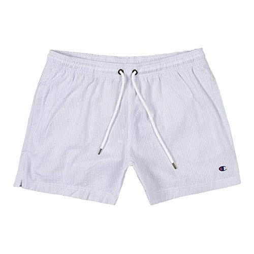 Champion - Seersucker Herren Shorts (blau) - M (Seersucker-shorts Herren)