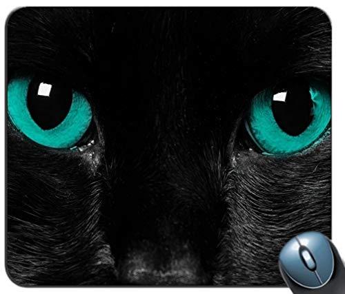 Schwarze Katzenaugen-Muster-Mausunterlage, Gedruckter Rutschfester Gummi-Bequeme kundengebundene Computer-Mausunterlage Paris Coaster