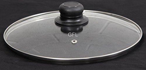 Coperchio sostitutivo in vetro temperato trasparente per padelle da 14cm a 40cm 36 cm silver