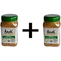 Aadi Organics 2-PACK - All Organic Indian Ginger Powder - 6oz/170g per Wide Mouthed Bottle (12oz/340g) - Cooking, Kitchen Use, Flavoring Herbs and Spices