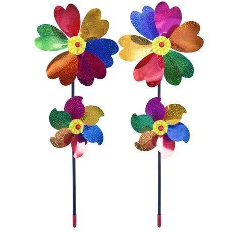 Modou (2 Stück) Windspiel Windrad Windmühle Geeingnet für Gärten / Terrassen / Balkone und ebenso EIN schönes Spielzeug für Kinder
