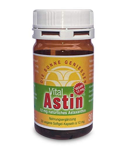 Astaxanthin - versandkostenfrei - VitalAstin vegan 50 Kapseln - Das Original Ivarssons VitalAstin mit 12 mg natürlichem Astaxanthin