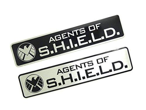 Agents Of Shield Metall Cosplay Auto Aufkleber Abzeichen Fan Decal (Schwarz) (Die Agenten Von Shield)