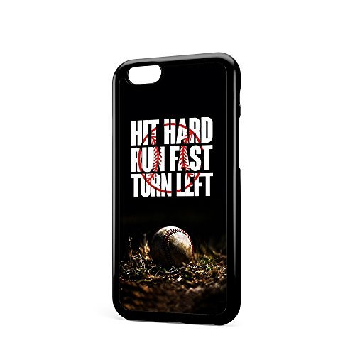 iPhone 6 6S Fall mit Baseball Sport Hit Hard RN Schnell - Pappel Sport Schutzhülle für iPhone 6 6S (Baseball Iphone 4 Fall)
