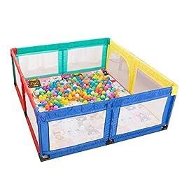 Bambini Recinto- Baby Box con Tappeto Strisciante, Cantiere Portatile per Toddler Interno Anti-Caduta Game Fence…