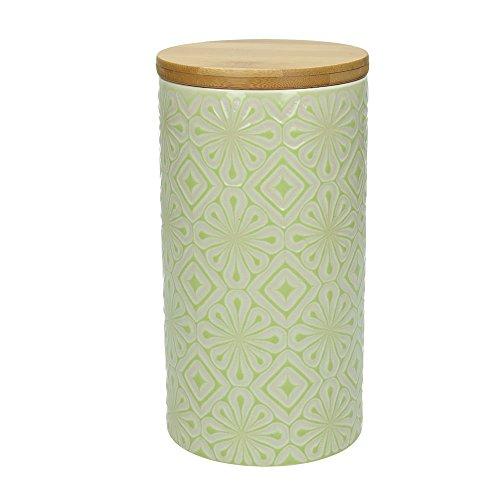 Vorratsdose / Kaffeedose 500 gr. AMIRA, 1270 ml., 19 cm hoch, Keramik, limette-weiß, wundervoll...