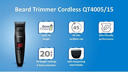Philips Beard Trimmer Cordless for Men QT4005/15