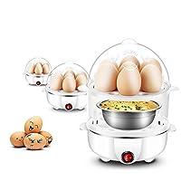 Orpio Double layer egg boiler electric / electric egg cooker / electric egg poacher / milk boiler (Multi Color)