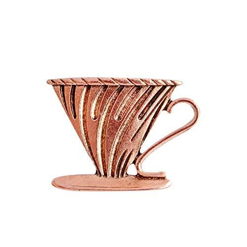 Shoppy Star Vintage Coffee Cup Series Brosche Hand stumpf Filter Becher Set Kaffee Gerät Brosche Metall Abzeichen für Kleidung 791 (Generic Kaffee-filter)