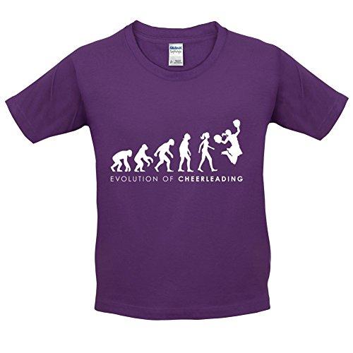 Evolution of Woman - Cheerleading - Kinder T-Shirt - Lila - XS (3-4 (Cheerleading Kostüme Kleinkind)