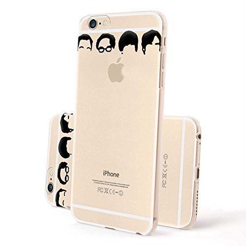 FINOO ® | Iphone 6 / 6S Plus Hardcase Handy-Hülle | Transparente Hart-Back Cover Schale mit Motiv Muster | Tasche Case mit Ultra Slim Rundum-schutz | stoßfestes dünnes Bumper Etui | Big Apple Big Bang