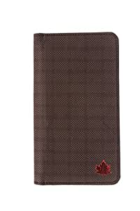 99 Maple pu leather pouch for Karbonn A18+