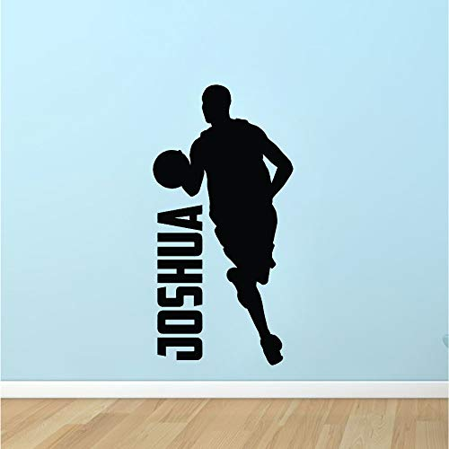 Boys Basketball Dribble Silhouette Wall Decal Dormitorio