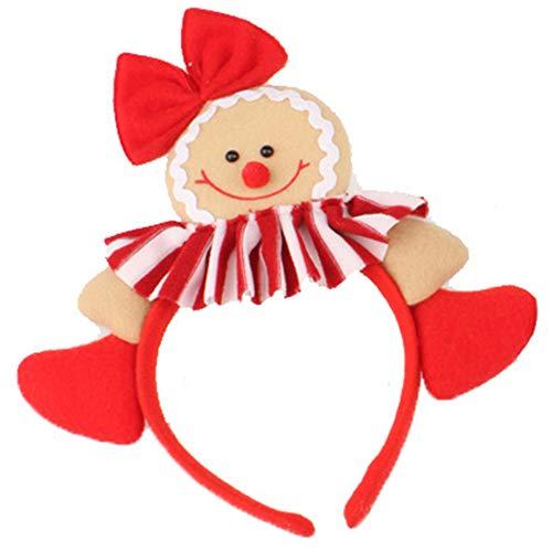 Lubier 1PC Weihnachten Stirnband Lebkuchenmann Weihnachten Stirnband Weihnachten Party Supplies Weihnachten ()