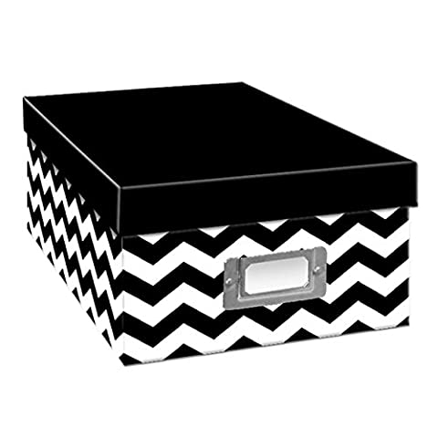 Pioneer Photo Albums B-1BW/CHEV Chevron Design Photo Storage Box