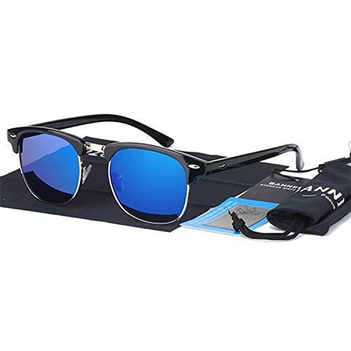 Crystal-heart-store UV400 HD polarisierte Sonnenbrille, für Herren und Damen, klassische Modemarke, Sonnenbrille, Beschichtung, Drive-Shades Gafas, (Blue A1), Einheitsgröße