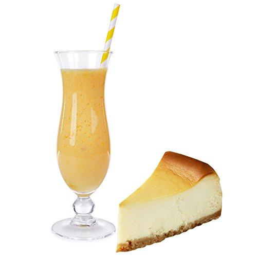 Cheesecake Geschmack Eiweißpulver Milch Proteinpulver Whey Protein Eiweiß L-Carnitin angereichert Eiweißkonzentrat für Proteinshakes Eiweißshakes Aspartamfrei (1 kg)