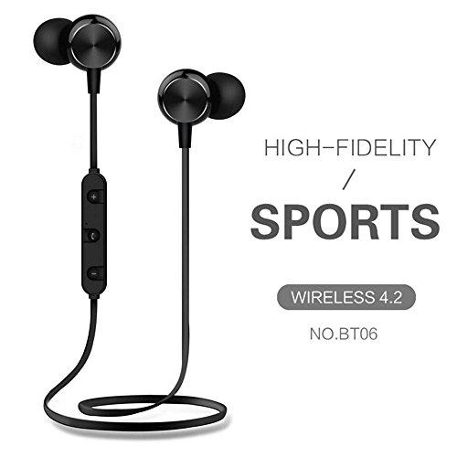 Stehen Tv Cool (Nackenbügel Bluetooth Kopfhörer Wireless Headset Stereo Noise Cancelling Mikrofon Earbuds mit USB Datenkabel Kordel in One für Handys IOS Android PC TV Best Musik Kopfhörer Schwarz )